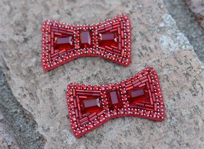 Hand-sewn ruby slipper bows